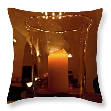 Candlelight Throw Pillow