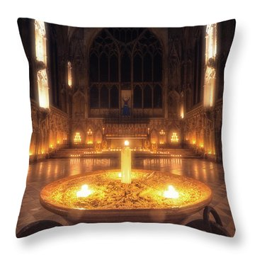 Candlemas - Lady Chapel Throw Pillow