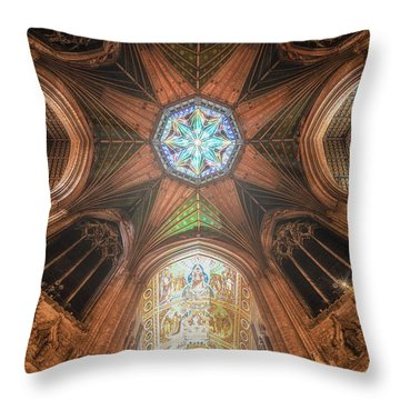 Candlemas - Octagon Throw Pillow
