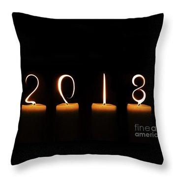 Candles 2018 Throw Pillow