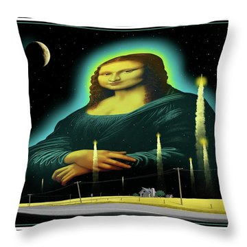 Throw Pillow featuring the digital art Candles For Mona by Scott Ross