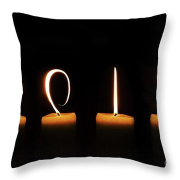 Candles New Year Card Throw Pillow