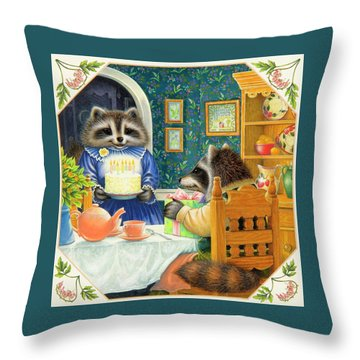 Candles On The Cake Throw Pillow by Lynn Bywaters