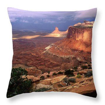 Candlestick Tower In Nature's Spotlight Throw Pillow