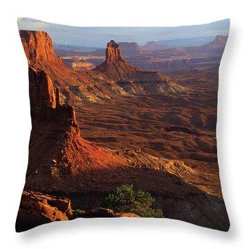 Candlestick Tower Sunset Throw Pillow