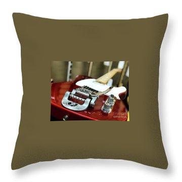 Candy Apple Fender Throw Pillow