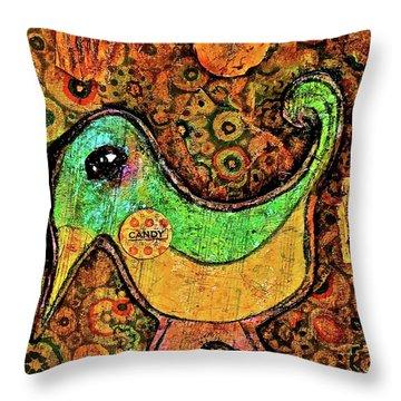 Candy Bird Throw Pillow