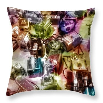 Candy Camera Throw Pillow