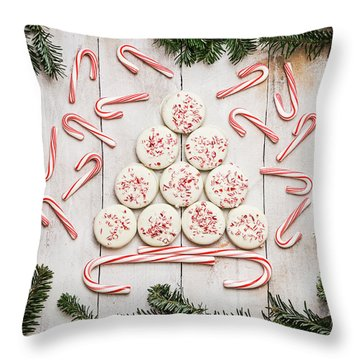 Throw Pillow featuring the photograph Candy Cane Lane by Kim Hojnacki