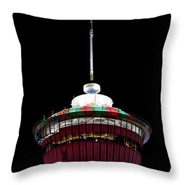 Throw Pillow featuring the photograph Candy Cane Tower by Brad Allen Fine Art