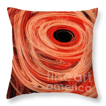 Throw Pillow featuring the digital art Candy Chaos 1 Abstract by Andee Design