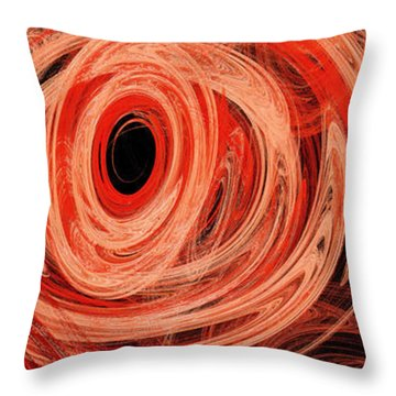 Throw Pillow featuring the digital art Candy Chaos 2 Abstract by Andee Design