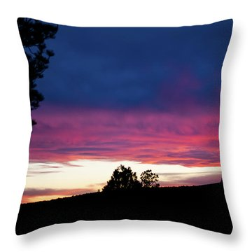 Candy-coated Clouds Throw Pillow