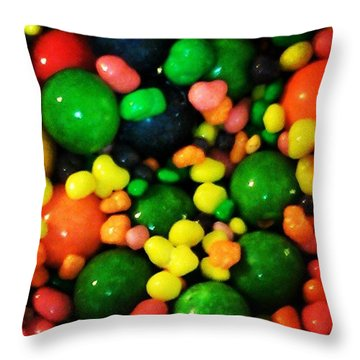 Candy Colored Throw Pillow