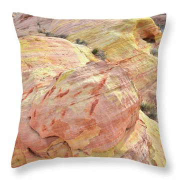 Throw Pillow featuring the photograph Candy Colored Sandstone In Valley Of Fire by Ray Mathis