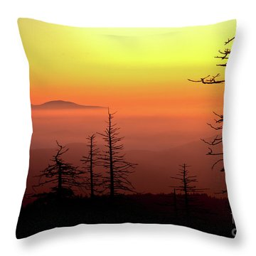 Throw Pillow featuring the photograph Candy Corn Sunrise by Douglas Stucky