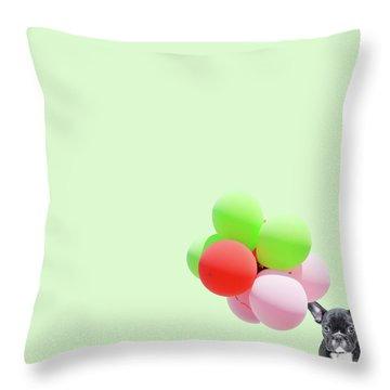 Candy Dog Throw Pillow