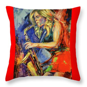 Candy Dulfer, Lily Was Here Throw Pillow