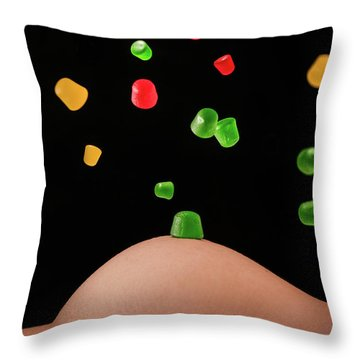 Candy Is Dandy Throw Pillow