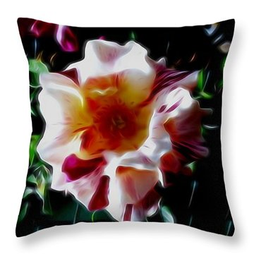 'candy Land' Rose In Abstract Throw Pillow