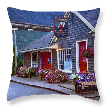 Candy Lane Throw Pillow