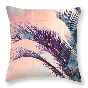 Candy Palms Throw Pillow