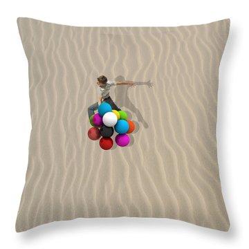 Candy Sand Throw Pillow