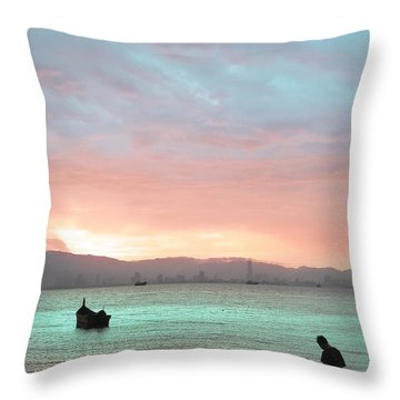 Candy Seascape Throw Pillow by Vincent Lee