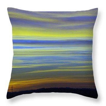 Throw Pillow featuring the photograph Candy Sky 1 by Victor K