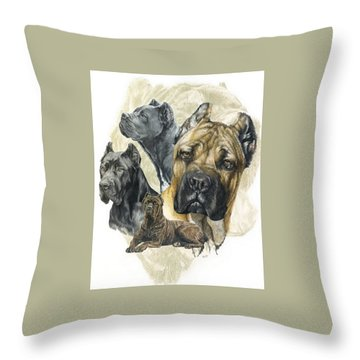 Cane Corso W/ghost Throw Pillow
