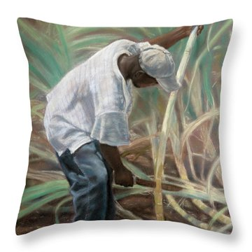 Cane Field Throw Pillow
