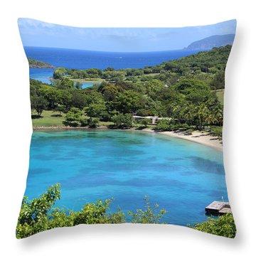 Caneel Bay St. John Throw Pillow