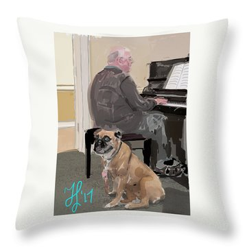 Canine Composition Throw Pillow
