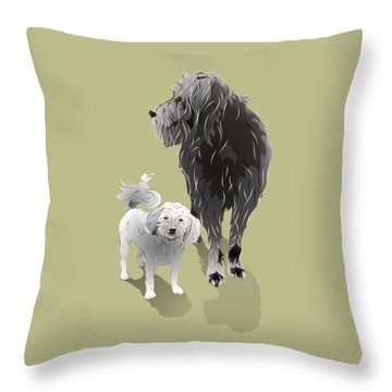 Canine Friendship Throw Pillow by MM Anderson