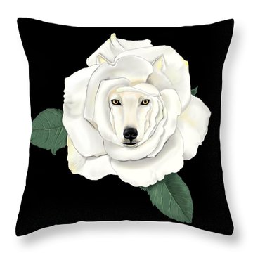 Canis Rosa Throw Pillow