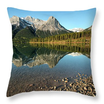 Canmore Reflections Throw Pillow