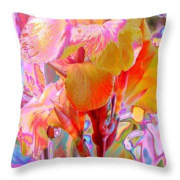 Canna Abstract 3 Throw Pillow by M Diane Bonaparte