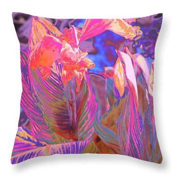 Canna Abstract 9 Throw Pillow by M Diane Bonaparte