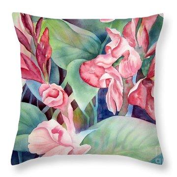 Canna Throw Pillow by Deborah Ronglien