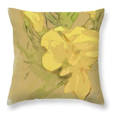 Throw Pillow featuring the photograph Canna by Gina Harrison