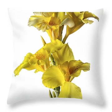 Throw Pillow featuring the photograph Canna Lilies by Endre Balogh