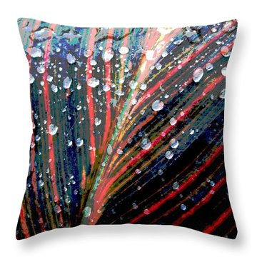 Canna Lily Leaf Throw Pillow by Steve Rudolph