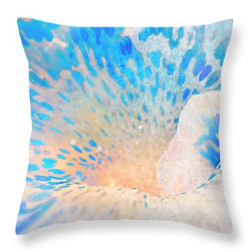 Canna Snow Throw Pillow