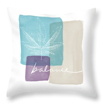 Cannabis Leaf Watercolor 3- Art By Linda Woods Throw Pillow by Linda Woods