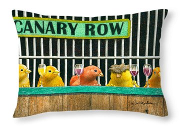 Canary Row Throw Pillow by Will Bullas