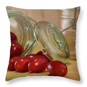 Canned Tomatoes - Kitchen Art Throw Pillow