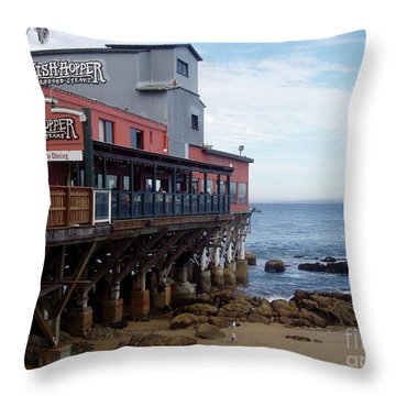 Throw Pillow featuring the photograph Cannery Row by Carol  Bradley