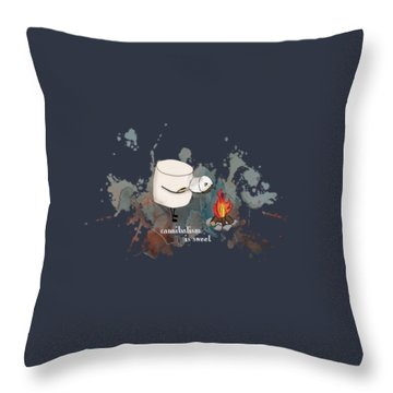 Cannibalism Is Sweet Illustrated Throw Pillow by Heather Applegate