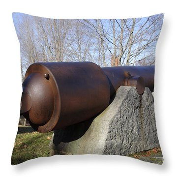 Cannon - York Maine Usa Throw Pillow by Erin Paul Donovan