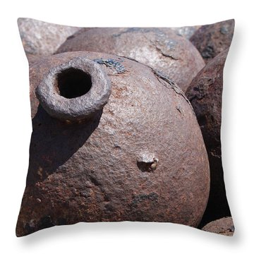Cannon Balls Throw Pillow